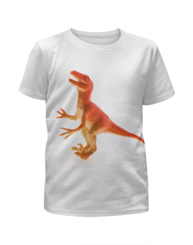 Футболка с полной запечаткой для девочек Printio Динозавр футболка с полной запечаткой для девочек printio joker