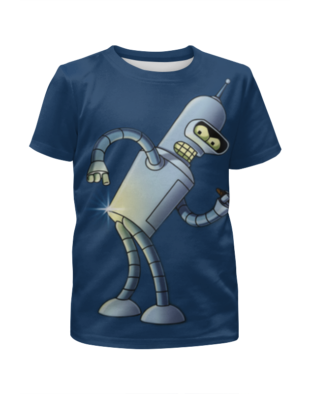 Футболка с полной запечаткой для девочек Printio Бендер (футурама) футболка с полной запечаткой мужская printio бендер