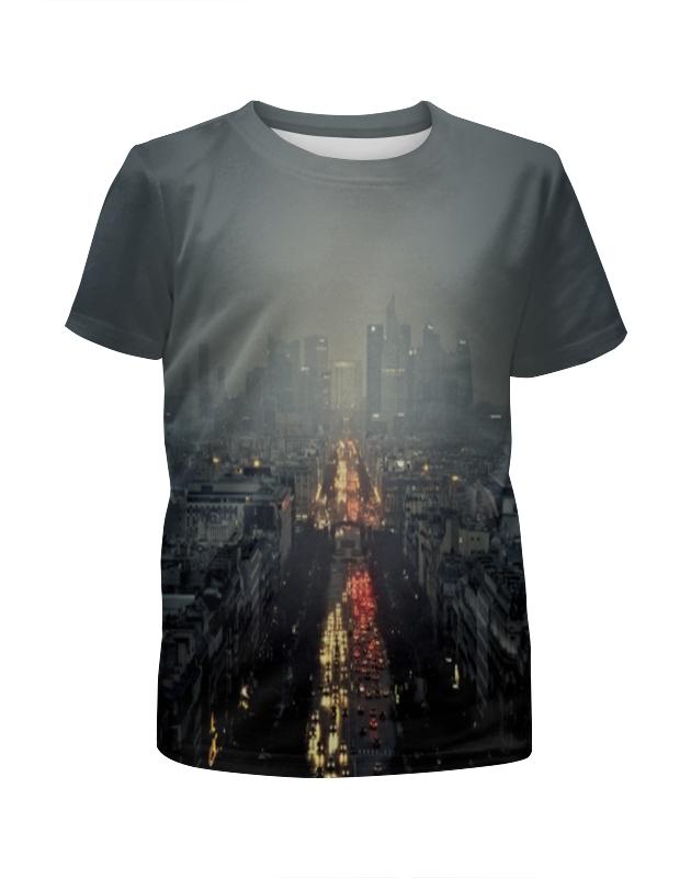 Футболка с полной запечаткой для девочек Printio Ночной город футболка с полной запечаткой для девочек printio spawn