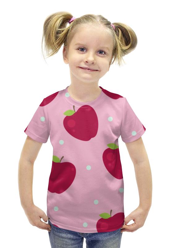 Футболка с полной запечаткой для девочек Printio Яблоки футболка с полной запечаткой для девочек printio пртигр arsb