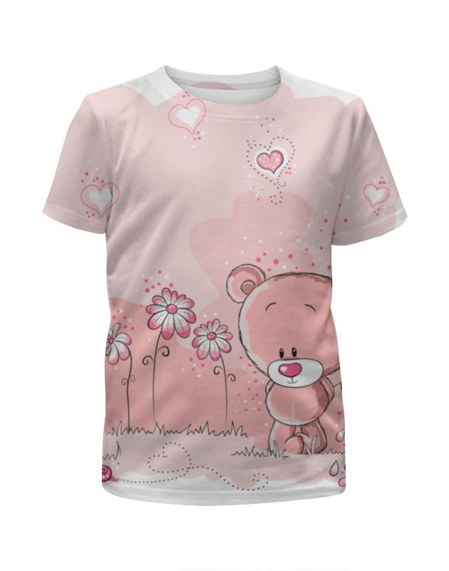 Футболка с полной запечаткой для девочек Printio Лапочка мишка футболка с полной запечаткой для девочек printio мишка тед