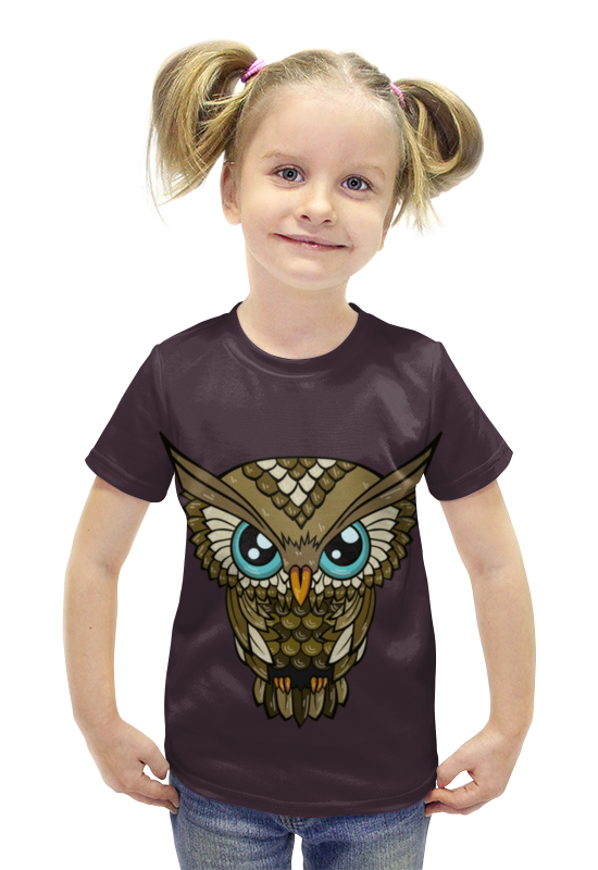 Футболка с полной запечаткой для девочек Printio Сова футболка с полной запечаткой для девочек printio пртигр arsb