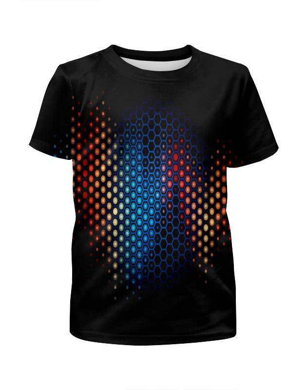 Футболка с полной запечаткой для девочек Printio Узор на черном футболка с полной запечаткой для девочек printio на отдых