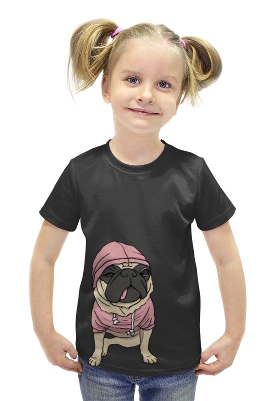 Футболка с полной запечаткой для девочек Printio Бульдожка футболка с полной запечаткой для девочек printio пртигр arsb
