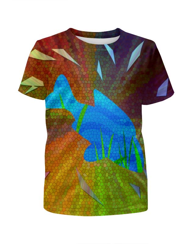 Футболка с полной запечаткой для девочек Printio Внутренний мир - погружение футболка с полной запечаткой для девочек printio война миров z