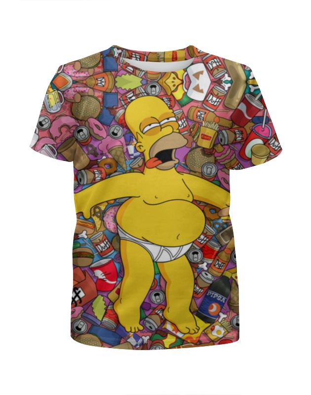 Футболка с полной запечаткой для девочек Printio Гомер симпсон футболка с полной запечаткой для девочек printio гомер симпсон халк