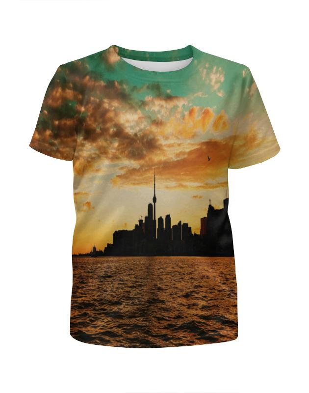 Футболка с полной запечаткой для девочек Printio Вечерний город футболка с полной запечаткой для девочек printio вечерний лондон