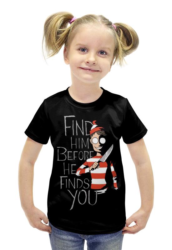 Футболка с полной запечаткой для девочек Printio Маньячек футболка с полной запечаткой для девочек printio пртигр arsb