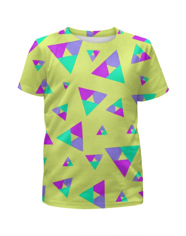 Футболка с полной запечаткой для девочек Printio Треугольник 1 прорезыватели macik забавка треугольник с колечками