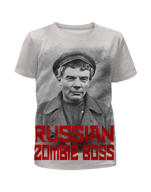 Футболка с полной запечаткой для девочек Printio Lenin russian zombie boss