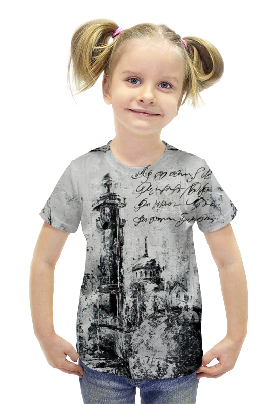 Футболка с полной запечаткой для девочек Printio Мокрый петербург футболка с полной запечаткой для девочек printio картина