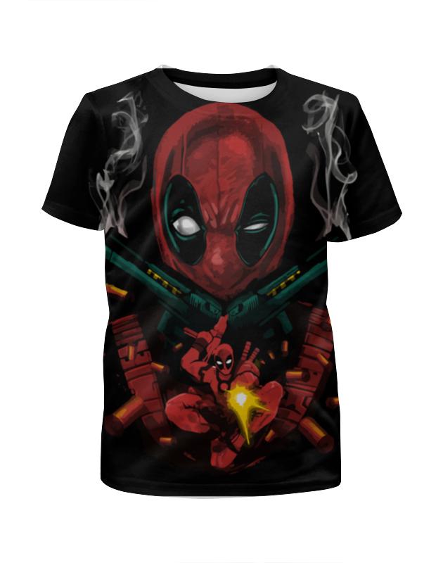 Футболка с полной запечаткой для девочек Printio Deadpool guns футболка с полной запечаткой для девочек printio пртигр arsb