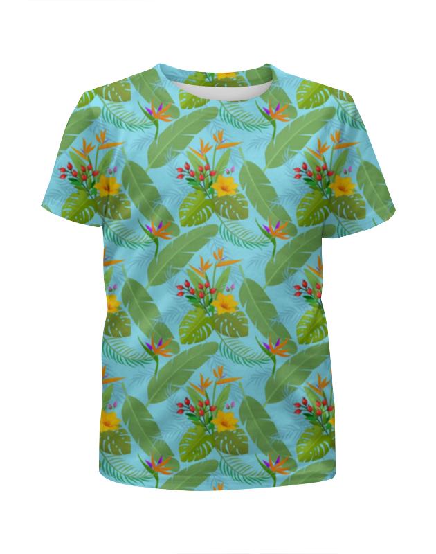 Футболка с полной запечаткой для девочек Printio Тропики футболка с полной запечаткой для девочек printio волшебник