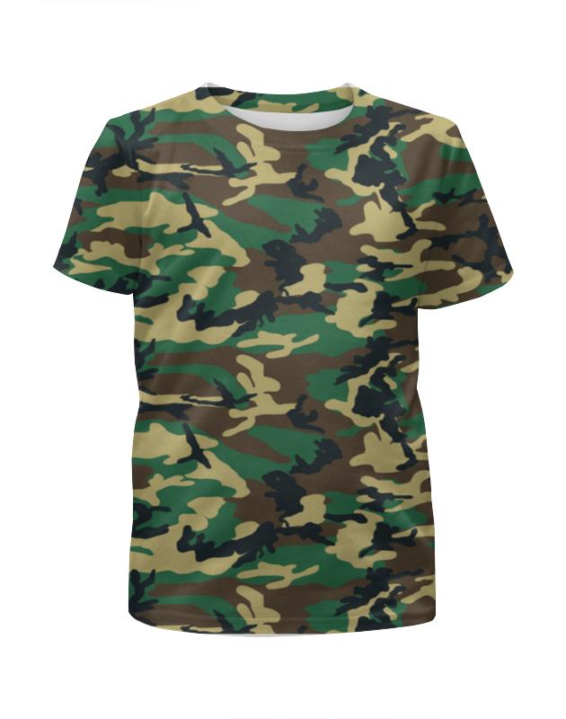 Футболка с полной запечаткой для девочек Printio Woodland style футболка с полной запечаткой для девочек printio camouflage style