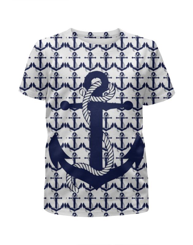 Футболка с полной запечаткой для девочек Printio Морская тема футболка с полной запечаткой для девочек printio spawn