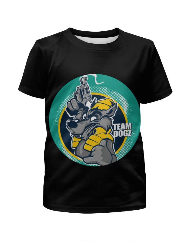 Футболка с полной запечаткой для девочек Printio Team dogz футболка print bar hacker team