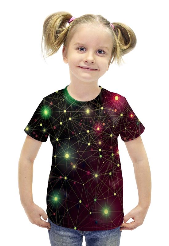 Футболка с полной запечаткой для девочек Printio Созвездие футболка с полной запечаткой для девочек printio пртигр arsb