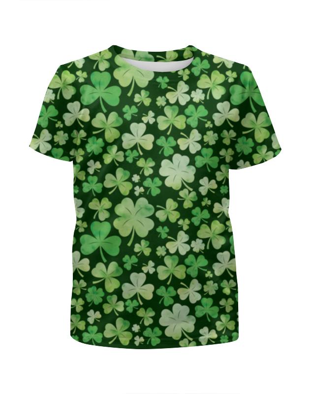 Футболка с полной запечаткой для девочек Printio Клевер футболка с полной запечаткой мужская printio клевер