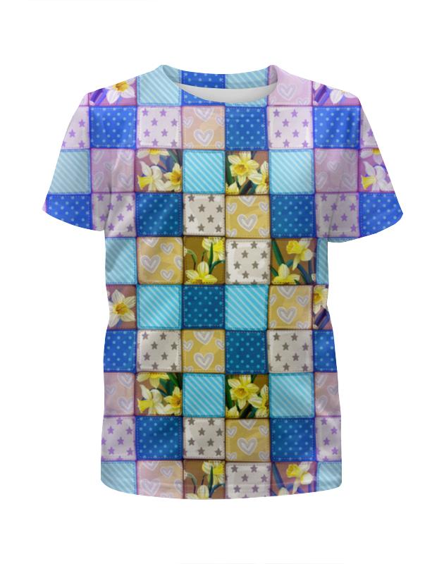 Футболка с полной запечаткой для девочек Printio Цветы (ковер) футболка с полной запечаткой printio цветы любви