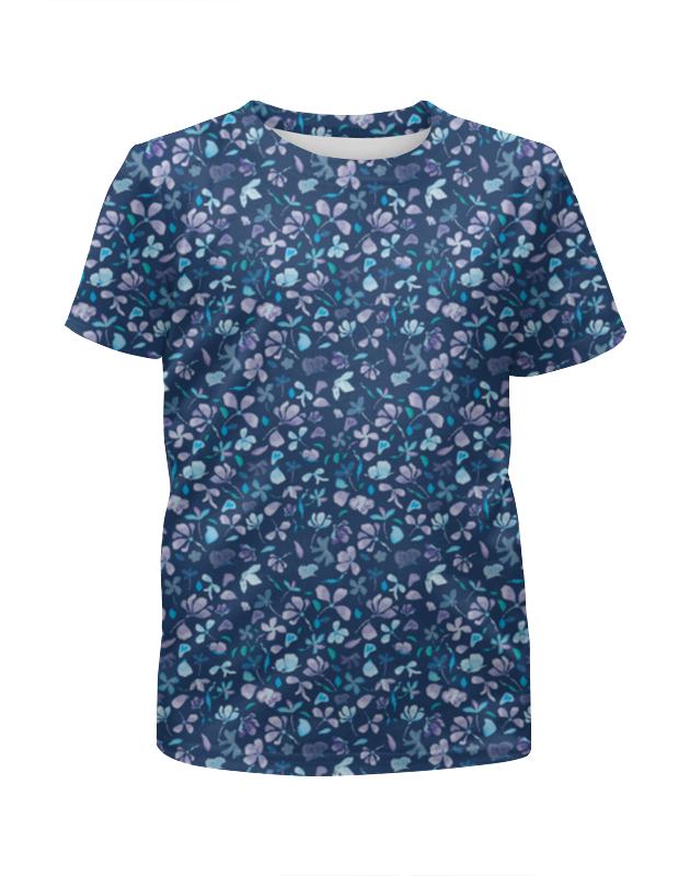 Футболка с полной запечаткой для девочек Printio Зимние цветы футболка с полной запечаткой для девочек printio зимние забавы