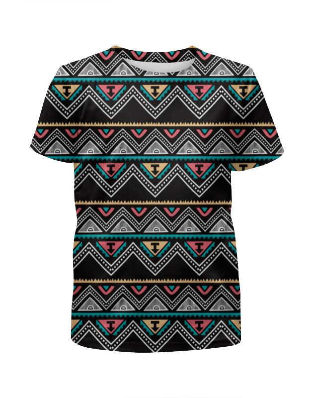 Футболка с полной запечаткой для девочек Printio Графические линии футболка с полной запечаткой для девочек printio узор линии