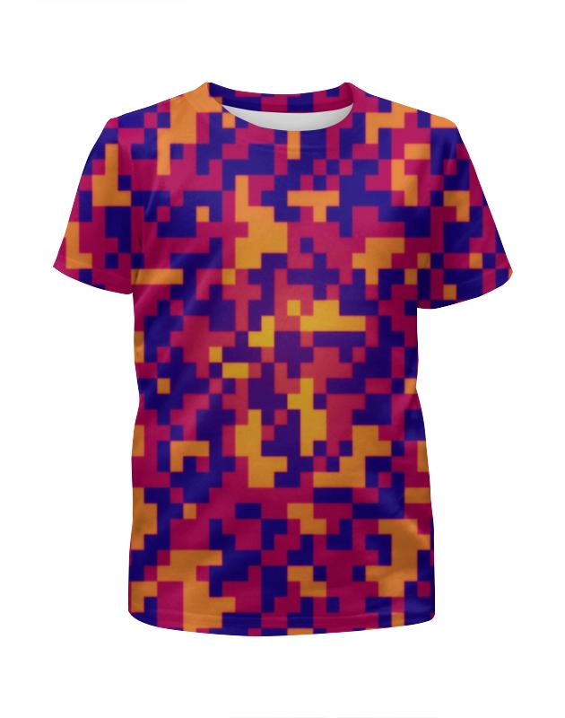 Футболка с полной запечаткой для девочек Printio Пиксели ночь футболка с полной запечаткой для девочек printio пртигр arsb