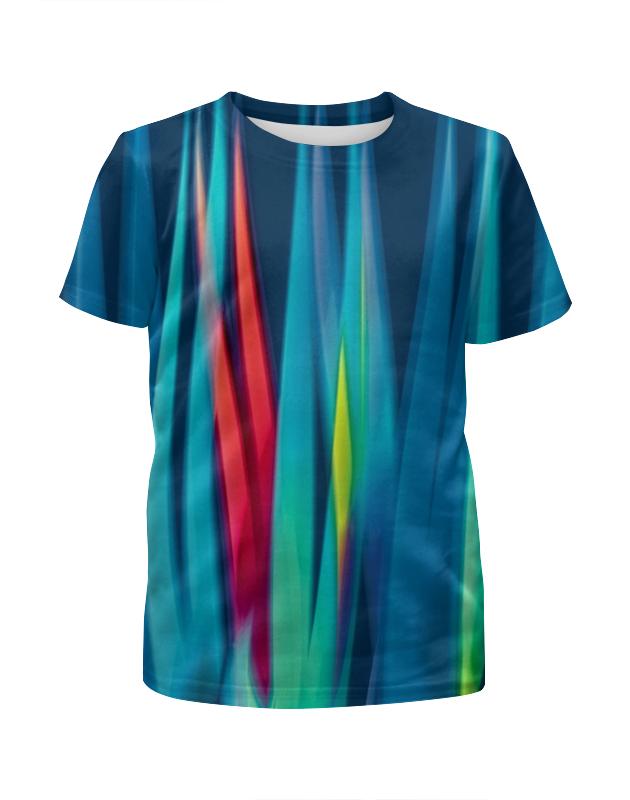 Футболка с полной запечаткой для девочек Printio Синие линии футболка с полной запечаткой для девочек printio пртигр arsb