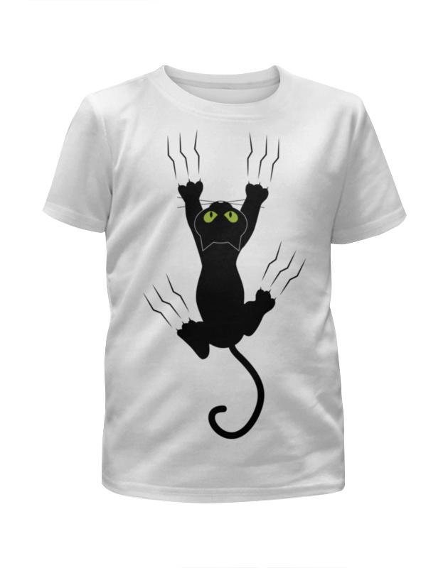 Футболка с полной запечаткой для девочек Printio Прикольный кот футболка с полной запечаткой для девочек printio пес и кот