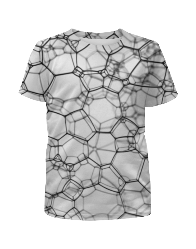 футболка с полной запечаткой для девочек printio бананы 3d Футболка с полной запечаткой для девочек Printio Пузыри 3d