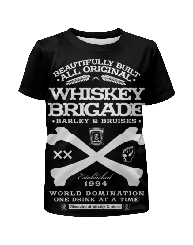 Футболка с полной запечаткой для девочек Printio Whiskey brigade arbor whiskey vegans deck 7 5