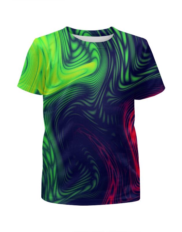 Футболка с полной запечаткой для девочек Printio Радужные краски футболка с полной запечаткой для девочек printio жидкие краски