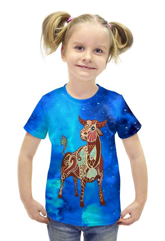 Футболка с полной запечаткой для девочек Printio Телец футболка с полной запечаткой для девочек printio пртигр arsb