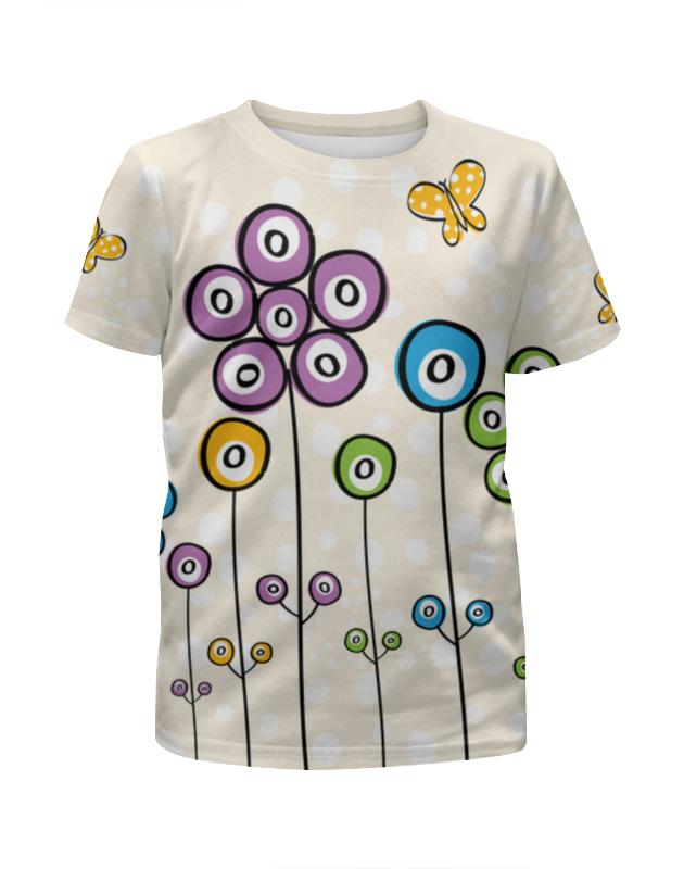 Футболка с полной запечаткой для девочек Printio Цветочная футболка с полной запечаткой для девочек printio цветочная поляна
