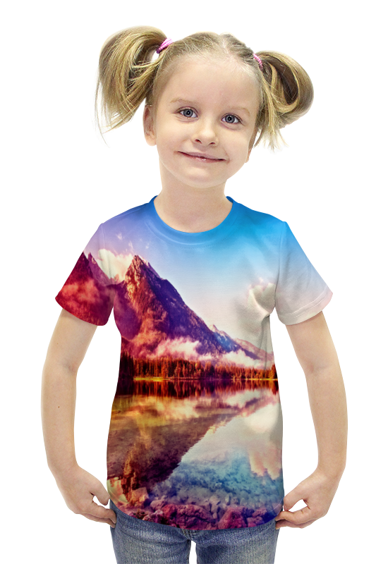 Футболка с полной запечаткой для девочек Printio Природа футболка с полной запечаткой для девочек printio spawn