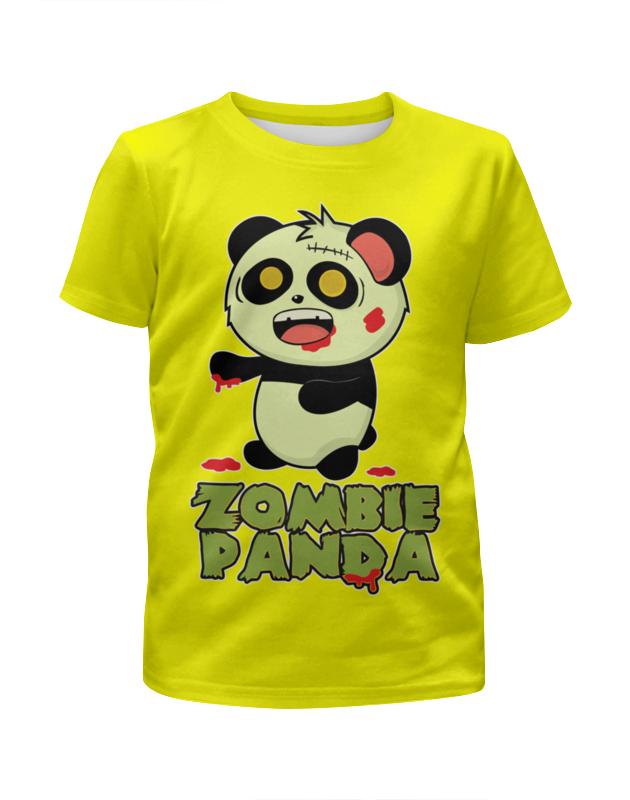 Printio Панда - зомби футболка с полной запечаткой для девочек printio зомби геймер