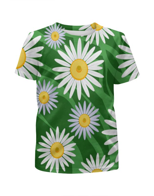 Футболка с полной запечаткой для девочек Printio Ромашки футболка с полной запечаткой мужская printio ромашки