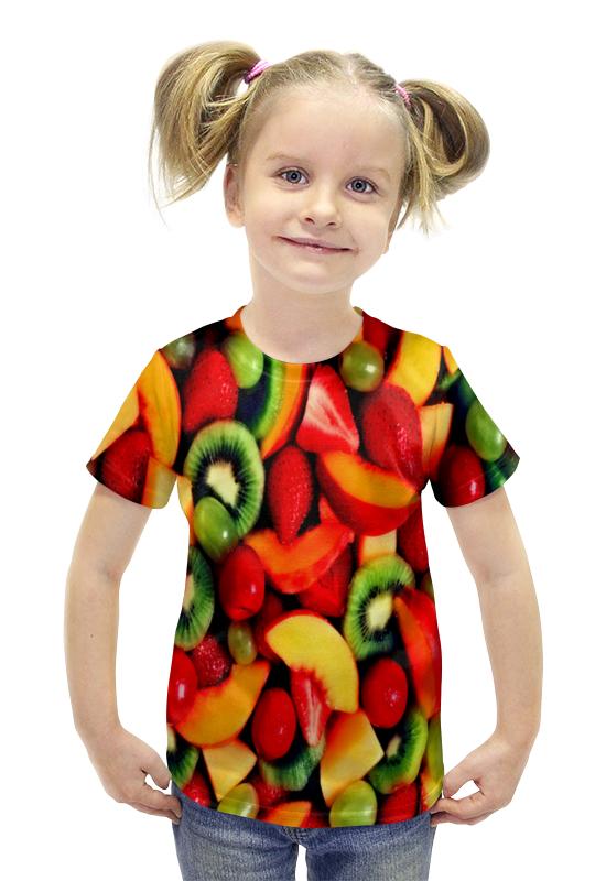 Футболка с полной запечаткой для девочек Printio Фрукты футболка с полной запечаткой для девочек printio пртигр arsb