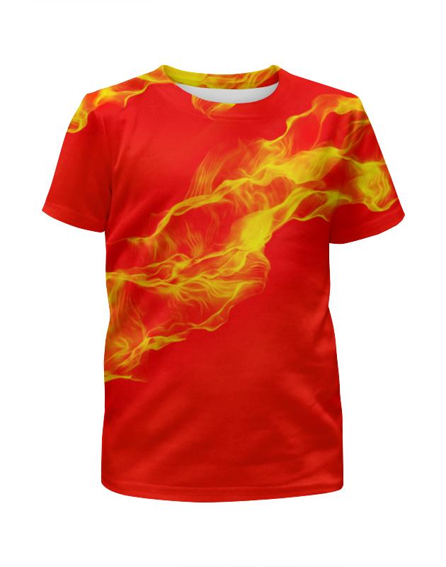 Футболка с полной запечаткой для девочек Printio Fire! футболка с полной запечаткой мужская printio fire on fire