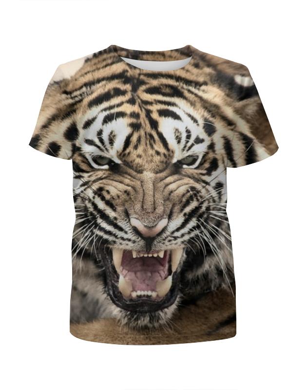 Футболка с полной запечаткой для девочек Printio Уссурийский тигр 2 футболка с полной запечаткой мужская printio тигр 3d