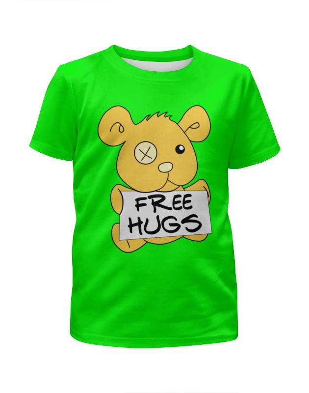 Футболка с полной запечаткой для девочек Printio Бесплатные объятья футболка с полной запечаткой для девочек printio пртигр arsb