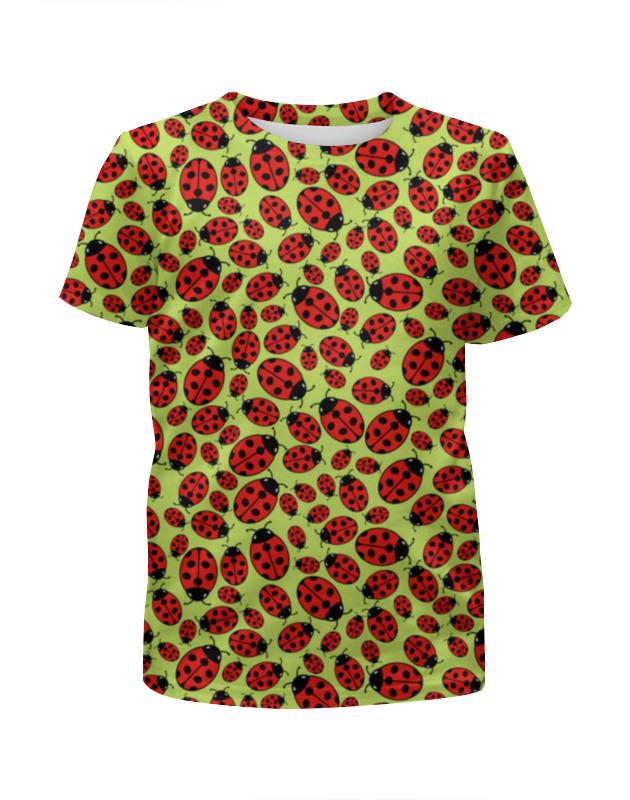 Футболка с полной запечаткой для девочек Printio Design ladybugs футболка с полной запечаткой для девочек printio graphic design