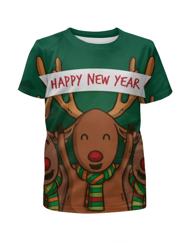 Футболка с полной запечаткой для девочек Printio Happy new year 2016! фартук с полной запечаткой printio happy new year 2017