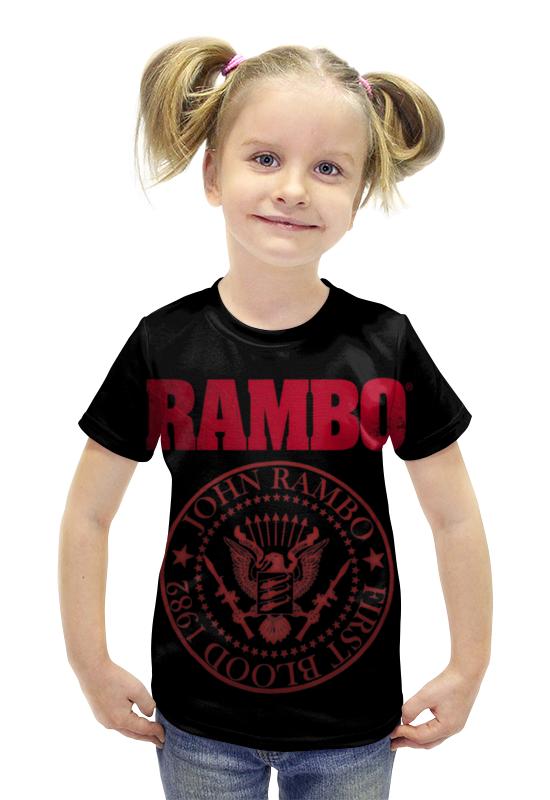 Футболка с полной запечаткой для девочек Printio Rambo футболка с полной запечаткой для девочек printio пртигр arsb