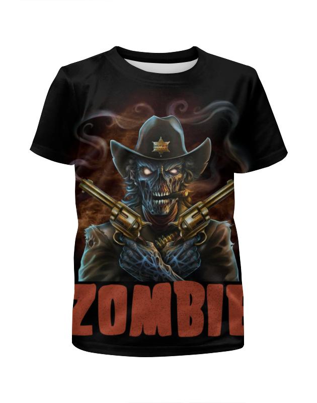 Printio Zombie sheriff футболка с полной запечаткой для девочек printio zombie cat