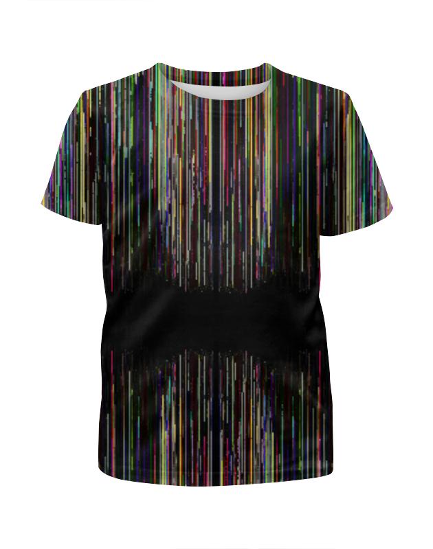 Футболка с полной запечаткой для девочек Printio Glitch art (чёрная дыра) футболка с полной запечаткой для девочек printio glitch art индиго