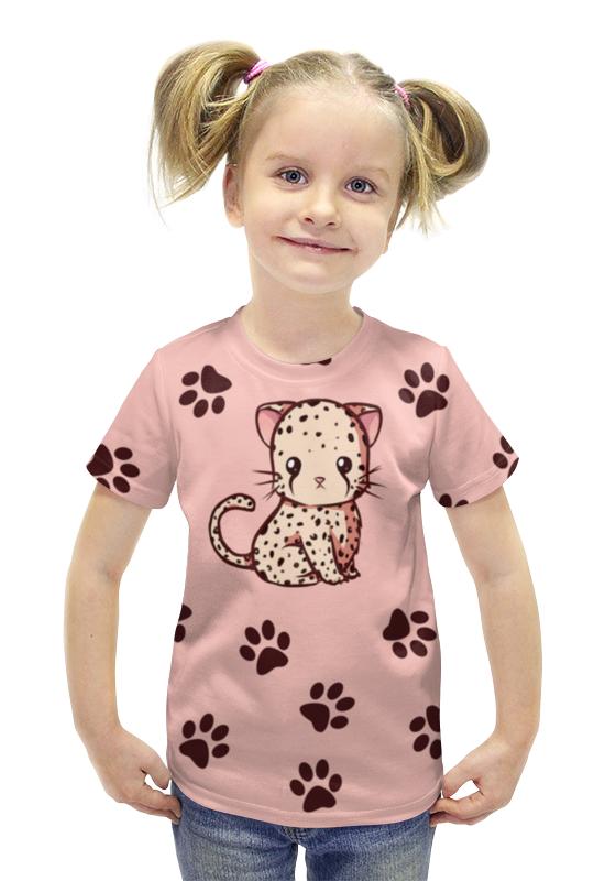Футболка с полной запечаткой для девочек Printio Котик футболка с полной запечаткой для девочек printio пртигр arsb