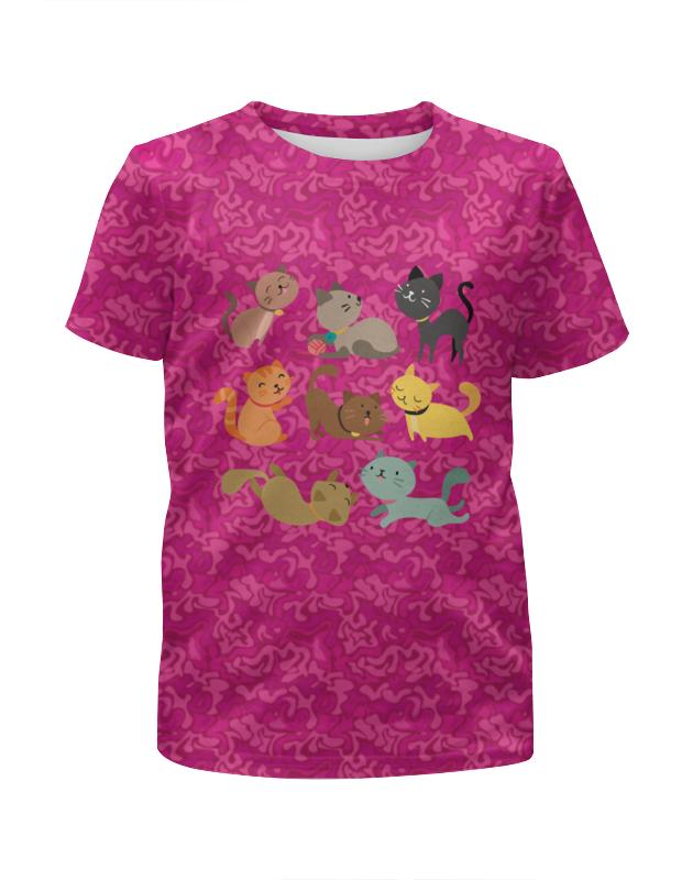 Футболка с полной запечаткой для девочек Printio Весёлые котята футболка с полной запечаткой для девочек printio rushero arsb