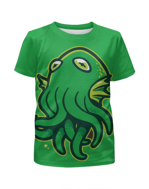 Футболка с полной запечаткой для девочек Printio Octopus / осьминог футболка с полной запечаткой для мальчиков printio octopus осьминог