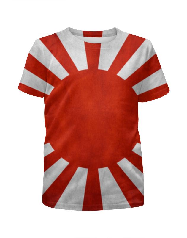Футболка с полной запечаткой для девочек Printio Японский флаг футболка с полной запечаткой для девочек printio пртигр arsb