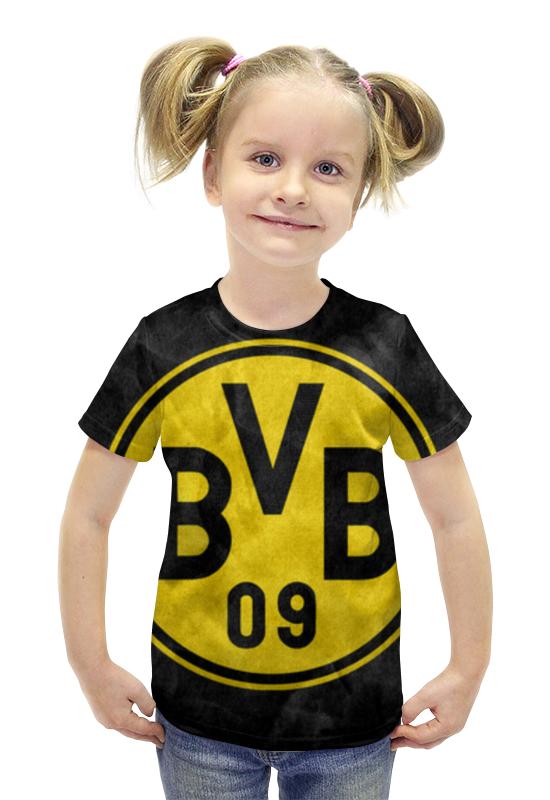 Футболка с полной запечаткой для девочек Printio Боруссия дортмунд билет на поезд москва дортмунд
